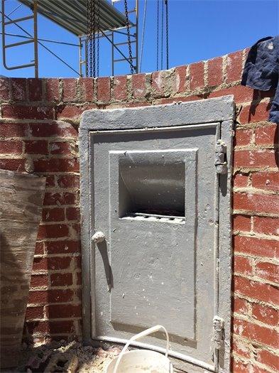 Masonry Wall for Lantern Room with Metal Access Door