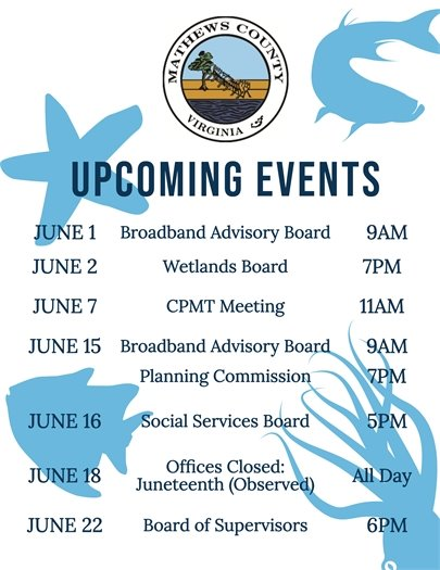June 2021 Upcoming Events